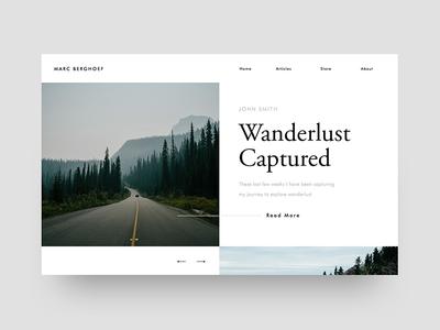 Wanderlust Captured — UI frame minimalistic webdesign card frame captured wanderlust minimal white ui