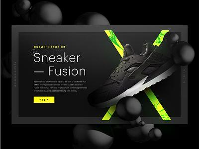 Sneaker Fusion — Huarache x Roshe Run NM c4d bubbles dark black vitamine c web ui run roshe huarache fusion sneaker