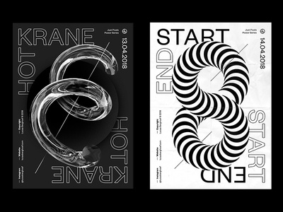 Two Posters - Just Pixels Poster Series pixels just black white typography poster