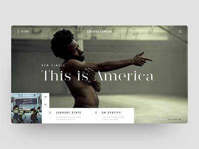 Childish Gambino - This Is America typography design frame ui america this gambino childish