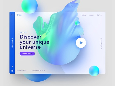 Discover your unique universe app website inspiration freelancer interface sketch photoshop typography ux ui web design design