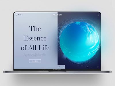 The Essence of All Life app website inspiration freelancer interface sketch photoshop typography ux ui web design design