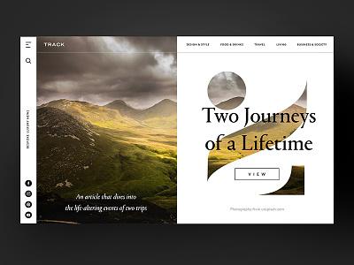 Two Journeys of a Lifetime app website inspiration freelancer interface sketch photoshop typography ux ui web design design