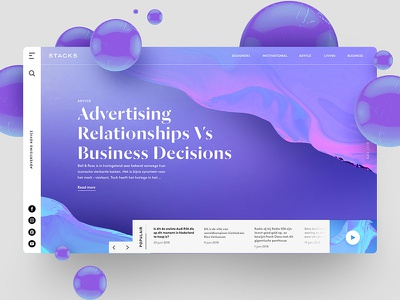Advertising Relationships VS Business Decisions app website inspiration freelancer interface sketch photoshop typography ux ui web design design