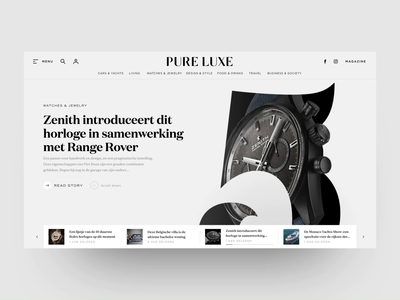 Redesign for Online Luxury Magazine