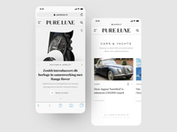 Mobile Screens of Pure Luxe Online Magazine
