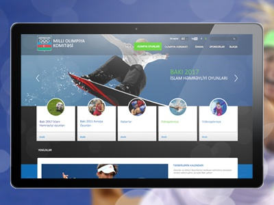 National Olympic Committee azerbaijan national olympic committee site design blick