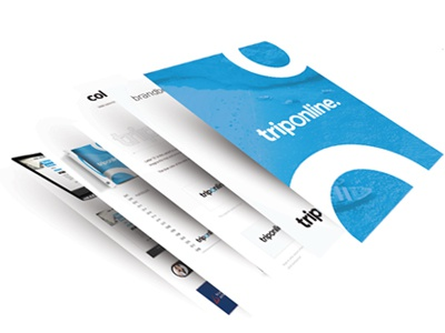 Triponline -Branding branding brandbook web design ui trip design