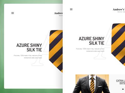 Ansdrew's ties clean tie italy milane letter orange suit style baku ansdrews