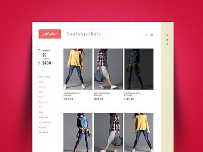 Afrodita Fashion quick view website ui ux red e-commerce brand greece fashion
