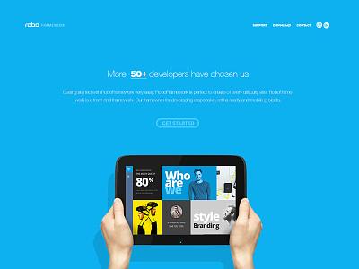 RoboFramework landing website css html interface roboframework