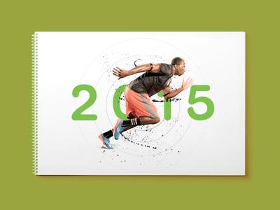 Calendar moves start 2015 branding calendar green up moves