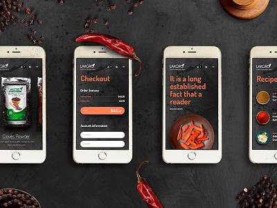 Lakgro web mobil hot pepper dark ux website switzerland sri lanka lakgro food