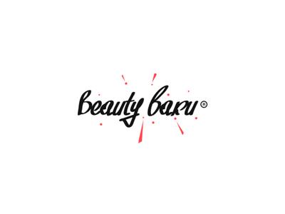 Beauty baku baku bang parts crystals handwriting logo beautybaku