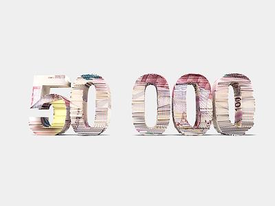 50 000 money 50000 euro manat