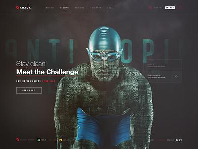 Azerbaijan National Anti-doping Agency 2017 anti-doping people stay clean website dark sport ui ux azerbaijan amada anada