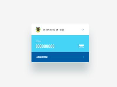 Part of GPP Web app Design (Government Payment Portal) web app light widget ux ui site baku website azerbaijan