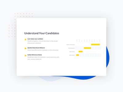 Snippet from Mindmatch redesign recruitment landingpage illustration ai