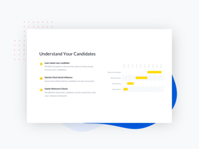 Snippet from Mindmatch redesign