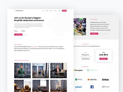 GraphQL Europe 2018 landingpage branding conference