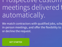 Contractor Landing Page for Marketplace
