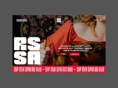Russian Sauce - Web Design branding brand identity bold shop landing page homepage web design