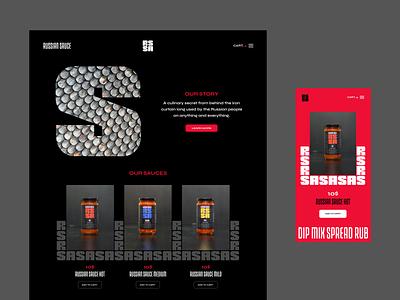 Russian Sauce - Web Design brand identity logo lettering type bold sauce web design product e-commerce