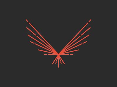 Nighthawk - Metal craftsmanship welding smart spark bird hawk nighthawk symbol mark branding brand identity logo