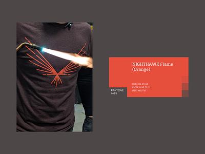 Nighthawk - Metal craftsmanship hawk symbol mark branding brand identity logo