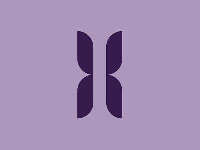 """H"" Mark brand concept brand identity butterfly symbol type branding mark logo"