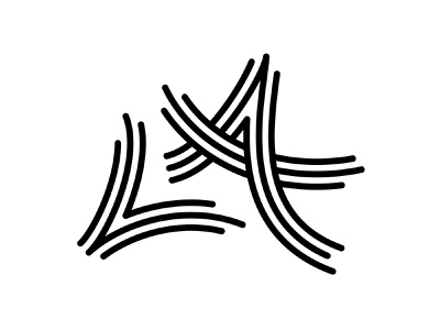 """LA"" Logo personal branding type lettering branding brand identity logo mark"