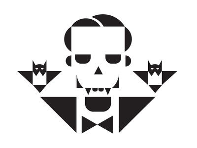 Dracula halloween dracula bat horror minimal vector simple illutsration