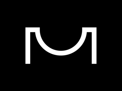 M 36 days of type black  white line minimal motiondesign typedesign m challenge typeface. lettering typeface 36daysoftype