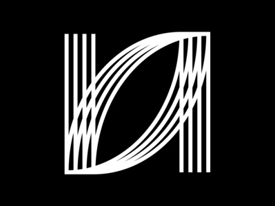 N lines graphic black  white 36 days of type lettering minimal typography letter challenge typeface 36 days of type