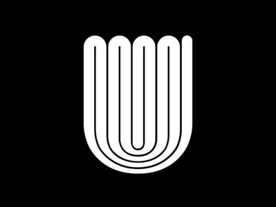 U geometric minimalist letter black  white fontface 36daysoftype minimal challenge typography typeface 36 days of type
