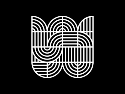 W type fontface typography minimal black  white letter typeface challenge 36 days of type