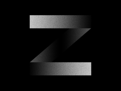 Z letter fontface challenge minimal noise black  white typeface 36 days of type typography z