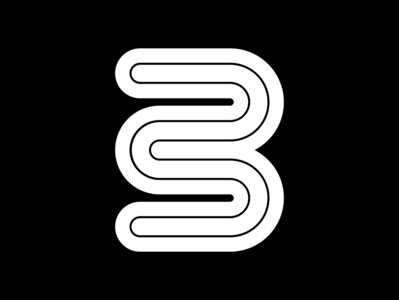 3 motion lines geometrical minimal graphic 36daysoftype black  white fontface challenge 36 days of type typography typeface