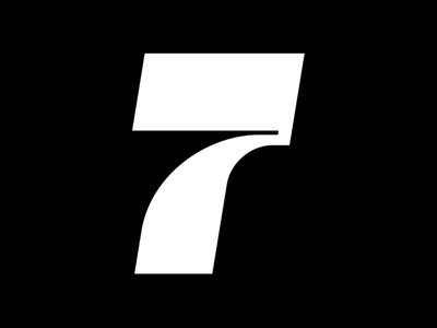 7 collab animation motion bold geometrical number letter fontface 36daysoftype black  white minimal typography 36 days of type typeface