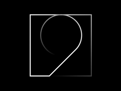 9 fontface geometrical design graphic black  white minimal typography challenge 36 days of type typeface