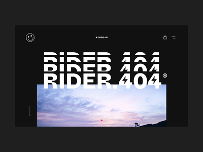 Rider.404 Project graphic design logo black  white minimal wip ux ui brand eshop fun flat web