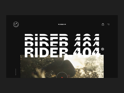 Rider.404 Project mtb video black  white typogaphy maximal minimal concept ui design visual identity branding animation webdesign website motion design ux ui