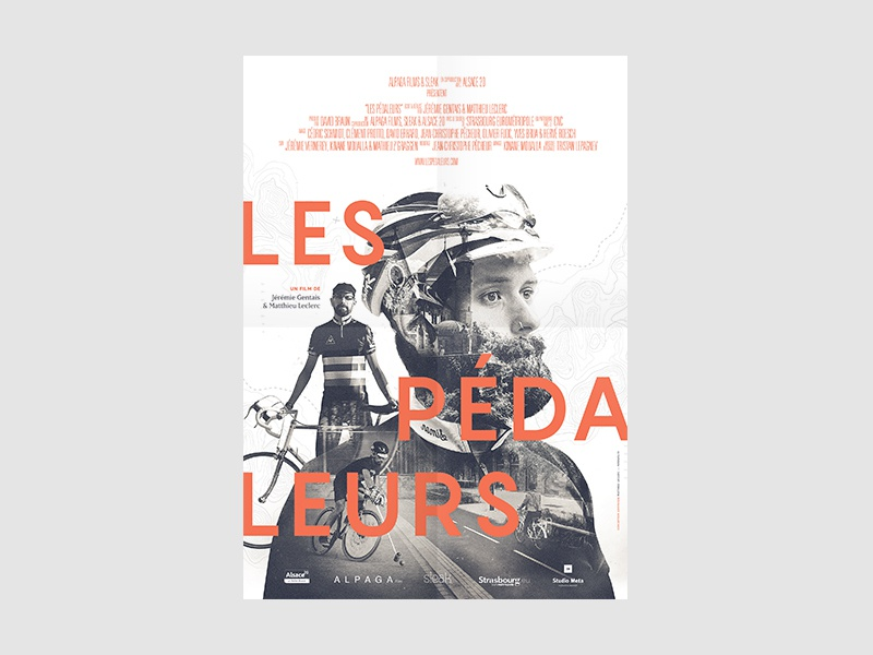 Les Pédaleurs bw black  whote graphic design art direction film movie exposition transmedia multi photography poster affiche
