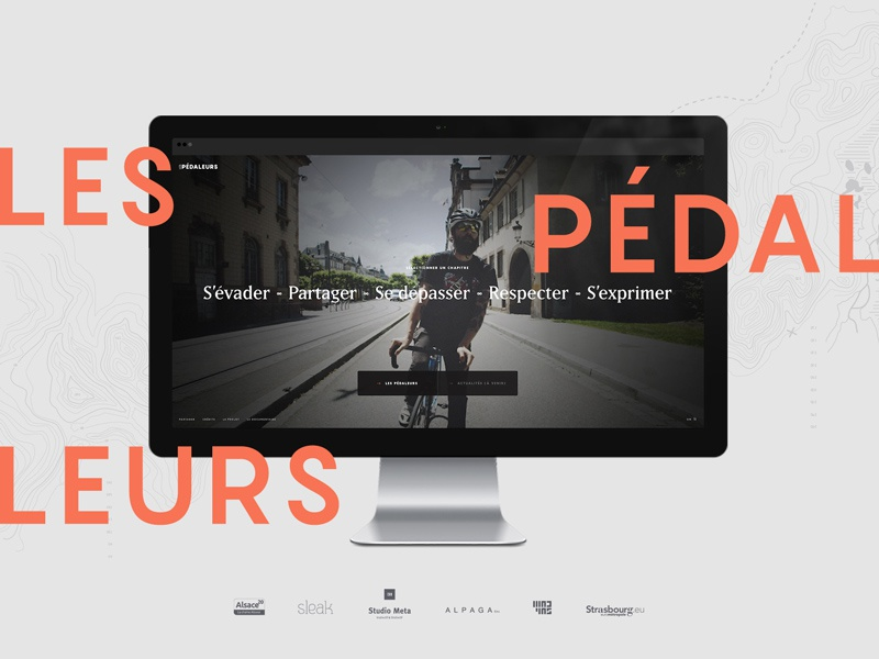 www.lespedaleurs.com video ux doc web direction creative velo