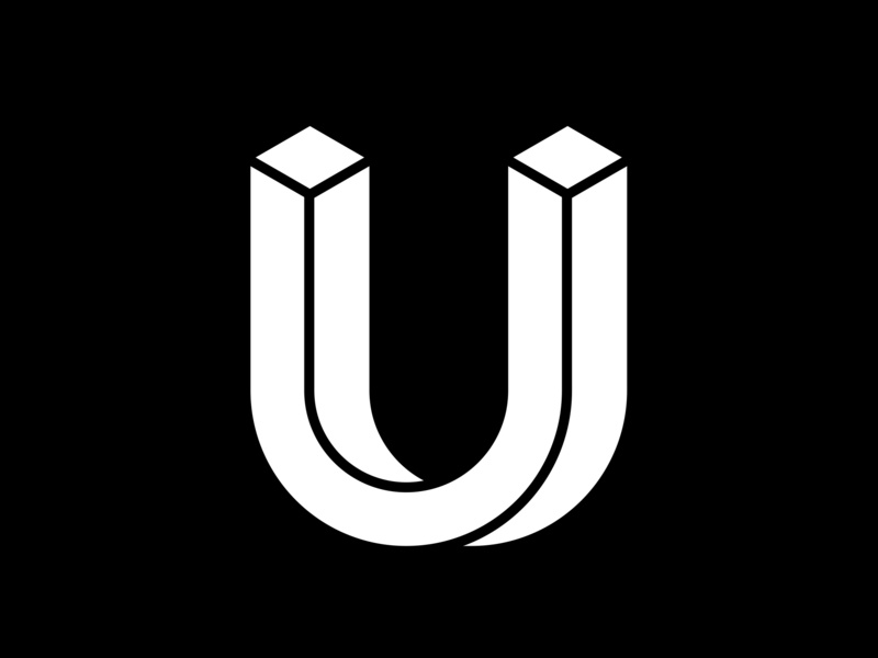 U 36 days of type lettering letter u black white minimal fontface lettering typeface adobe challenge 36 days of type