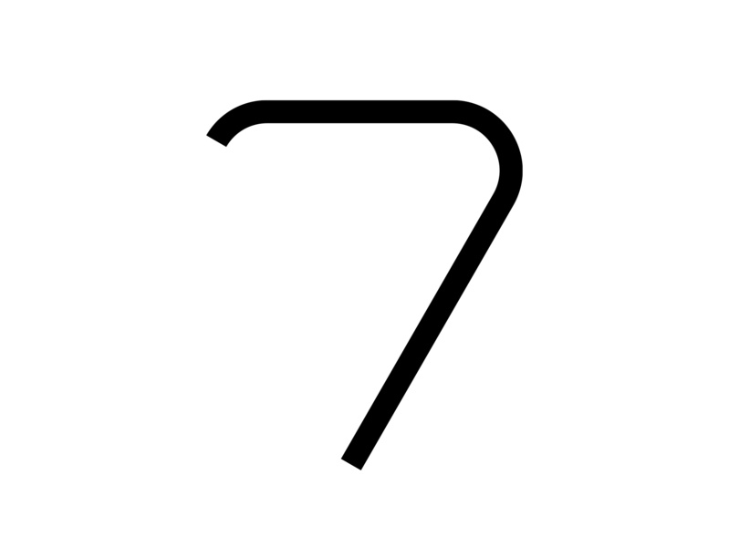 7 number white and black adobe minimal challenge 36 days of type fontface typography typeface