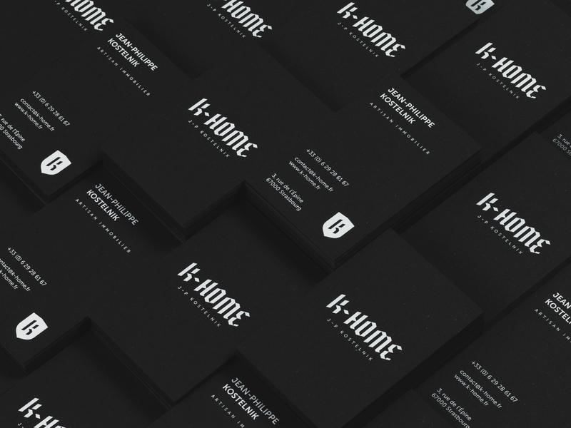 K-Home logo modern traditional minimal sign logotype brand identity visual identity