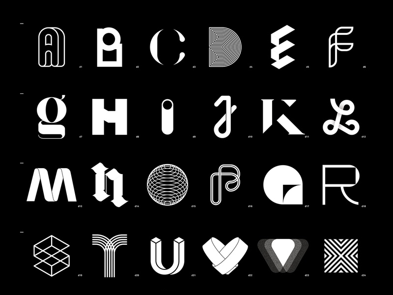 36 Days of Type 2019 logotype black  white 36 days of type 36 days of type lettering adobe letter fontface challenge typography typeface