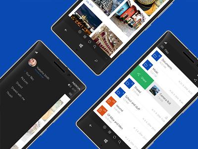 OneDrive Windows 10 mobile concept windows10 onedrive