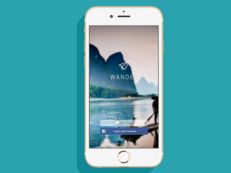 Wander travel lock screen travel app login